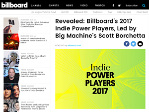 paula parisi contributes to billboard indie power 2017