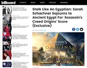paula parisi article in billboard on assassin creed origins music