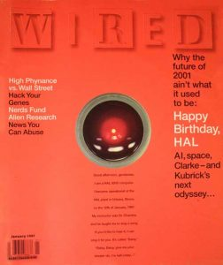 Wired magazine's birthday tribute to the computer HAL, January 1997