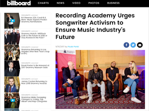 News about the Recording Academy activists pushing for better music laws by Paula Parisi