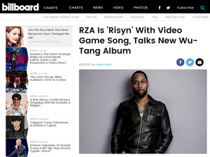 article about absolver videogame and rapper rza in billboard article by paula parisi