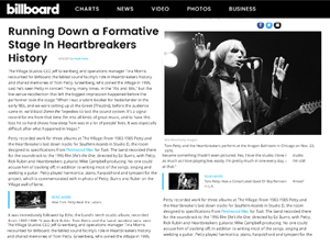 Clip about Tom Petty and Village Studios by Paula Parisi