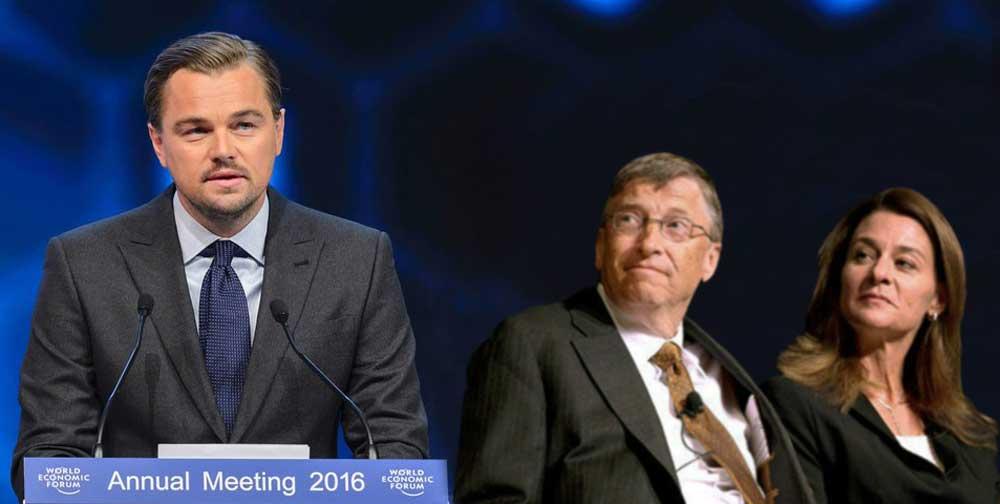 Leonardo DiCaprio, Bill Gates, Melinda Gates